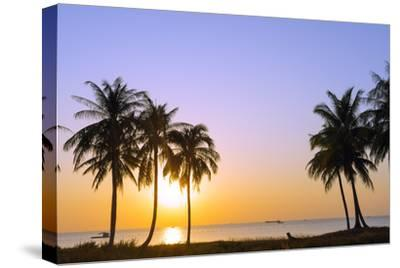 Sunset at Long Beach, Phu Quoc Island, Vietnam, Indochina, Southeast Asia, Asia-Christian Kober-Stretched Canvas Print