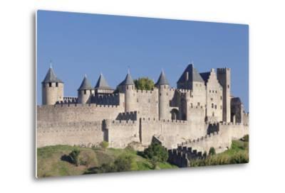 La Cite, Medieval Fortress City, Carcassonne, Languedoc-Roussillon, France-Markus Lange-Metal Print