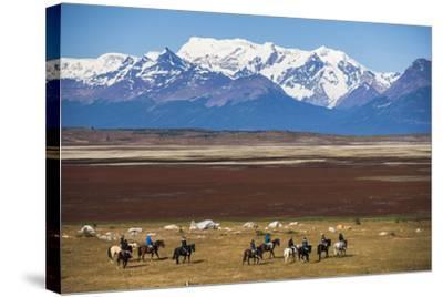 Horse Trek on an Estancia (Farm), El Calafate, Patagonia, Argentina, South America-Matthew Williams-Ellis-Stretched Canvas Print