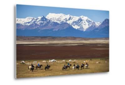 Horse Trek on an Estancia (Farm), El Calafate, Patagonia, Argentina, South America-Matthew Williams-Ellis-Metal Print