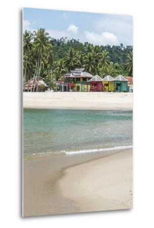 Sungai Pinang Beach and Rasta Beach Bungalows, Near Padang in West Sumatra, Indonesia-Matthew Williams-Ellis-Metal Print