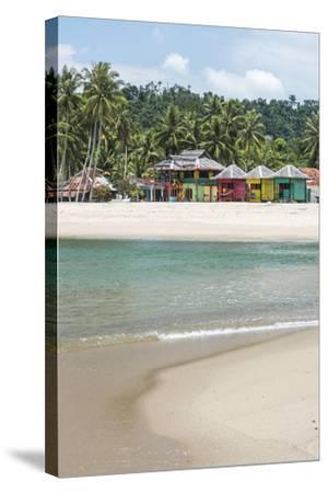 Sungai Pinang Beach and Rasta Beach Bungalows, Near Padang in West Sumatra, Indonesia-Matthew Williams-Ellis-Stretched Canvas Print