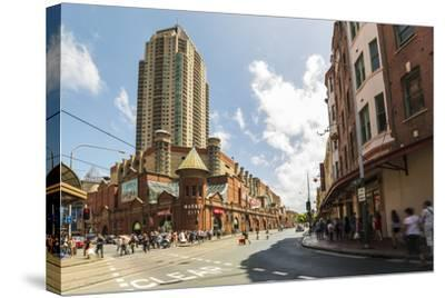 Famous Market City Building in Sydney with People around Walking, New South Wales, Australia-Noelia Ramon-Stretched Canvas Print