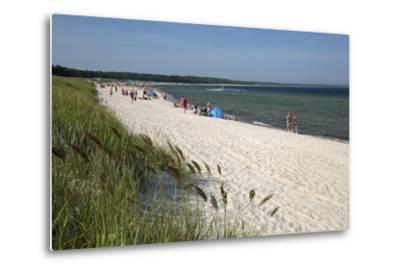 Lyckesand Beach Backed by Sand Dunes, Baltic Coast-Stuart Black-Metal Print