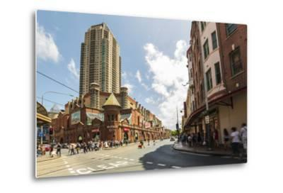 Famous Market City Building in Sydney with People around Walking, New South Wales, Australia-Noelia Ramon-Metal Print