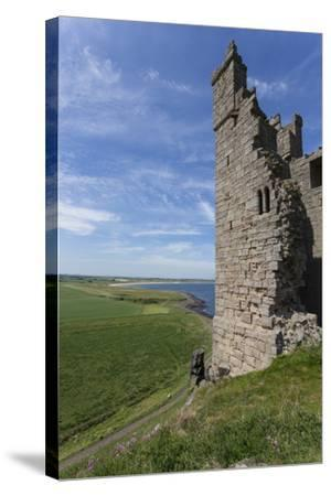 Ruins of Dunstanburgh Castle, Overlooking Fields and Embleton Bay, Northumberland, England, U.K.-Eleanor Scriven-Stretched Canvas Print