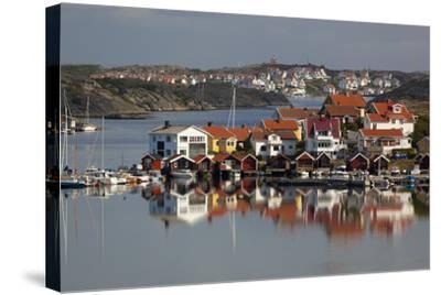 View over Harbour and Houses, Stocken, Orust, Bohuslan Coast, Southwest Sweden, Sweden, Europe-Stuart Black-Stretched Canvas Print