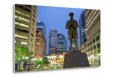Sir William Glasgow Statue on Post Office Square, Brisbane, Queensland, Australia, Oceania-Frank Fell-Metal Print