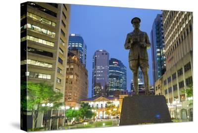 Sir William Glasgow Statue on Post Office Square, Brisbane, Queensland, Australia, Oceania-Frank Fell-Stretched Canvas Print