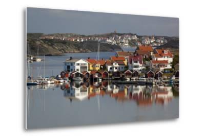 View over Harbour and Houses, Stocken, Orust, Bohuslan Coast, Southwest Sweden, Sweden, Europe-Stuart Black-Metal Print