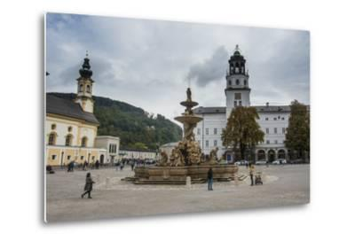 Residence Square in the Historic Heart of Salzburg, Austria, Europe-Michael Runkel-Metal Print