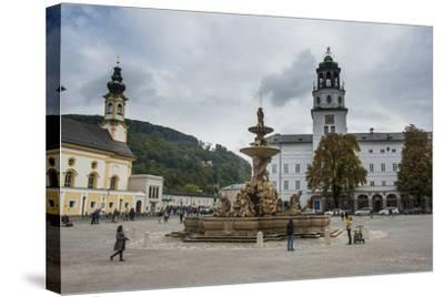 Residence Square in the Historic Heart of Salzburg, Austria, Europe-Michael Runkel-Stretched Canvas Print
