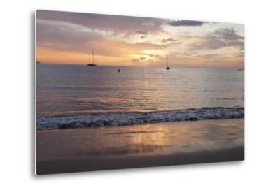 Sunset at Playa De Las Vistas Beach, Los Cristianos, Canary Islands-Markus Lange-Metal Print