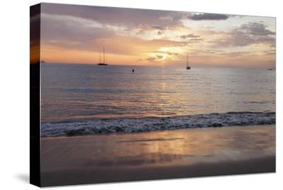 Sunset at Playa De Las Vistas Beach, Los Cristianos, Canary Islands-Markus Lange-Stretched Canvas Print
