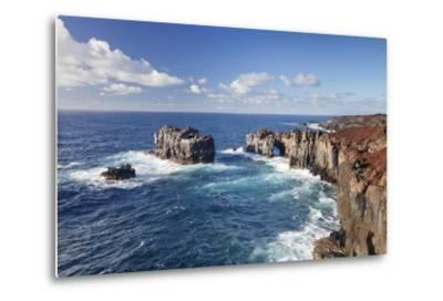 Puntas De Gutierrez, Lava Coast, El Hierro, Canary Islands, Spain-Markus Lange-Metal Print