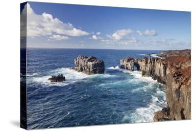 Puntas De Gutierrez, Lava Coast, El Hierro, Canary Islands, Spain-Markus Lange-Stretched Canvas Print
