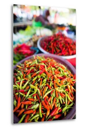 Chillies in Market, Phuket, Thailand, Southeast Asia, Asia-John Alexander-Metal Print