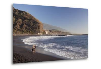 Playa Del Puerto Beach, Puerto De Tazacorte, La Palma, Canary Islands, Spain, Atlantic, Europe-Markus Lange-Metal Print