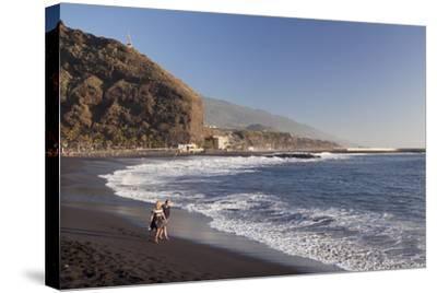 Playa Del Puerto Beach, Puerto De Tazacorte, La Palma, Canary Islands, Spain, Atlantic, Europe-Markus Lange-Stretched Canvas Print