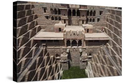 Chand Baori Step Well at Abhaneri, Rajasthan, India, Asia-Martin Child-Stretched Canvas Print