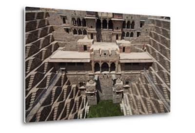 Chand Baori Step Well at Abhaneri, Rajasthan, India, Asia-Martin Child-Metal Print