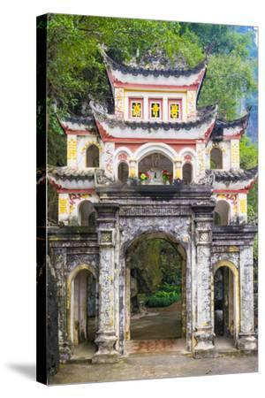 Gate of Bich Dong Pagoda, Hoa Lu District, Ninh Binh Province, Vietnam, Indochina, Southeast Asia-Jason Langley-Stretched Canvas Print
