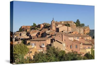 Sunrise over Hilltop Village of Roussillon, Southern France-Markus Lange-Stretched Canvas Print