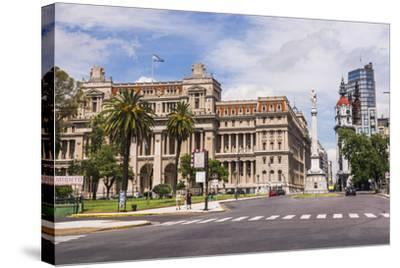 Teatro Colon in Plaza Lavalle (Lavalle Square), Buenos Aires, Argentina, South America-Matthew Williams-Ellis-Stretched Canvas Print