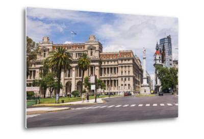 Teatro Colon in Plaza Lavalle (Lavalle Square), Buenos Aires, Argentina, South America-Matthew Williams-Ellis-Metal Print