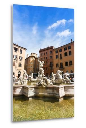 Fountain of Neptune, Piazza Navona, Rome, UNESCO World Heritage Site, Latium, Italy, Europe-Nico Tondini-Metal Print
