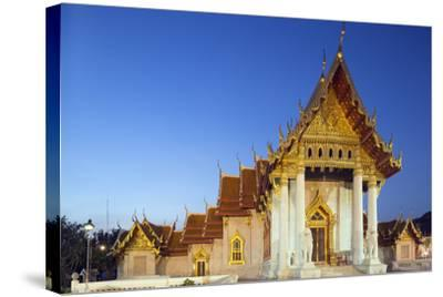 Wat Benchamabophit (The Marble Temple), Bangkok, Thailand, Southeast Asia, Asia-Christian Kober-Stretched Canvas Print