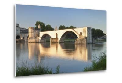 Bridge St. Benezet over Rhone River, Provence-Alpes-Cote D'Azur-Markus Lange-Metal Print