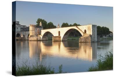 Bridge St. Benezet over Rhone River, Provence-Alpes-Cote D'Azur-Markus Lange-Stretched Canvas Print