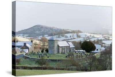 St. David's Church, Llanddewi'R Cwm, Powys, Wales, United Kingdom, Europe-Graham Lawrence-Stretched Canvas Print