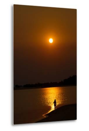 Sunset over the Tapajos River, Amazon, Alter Do Chao, Para, Brazil, South America-Alex Robinson-Metal Print