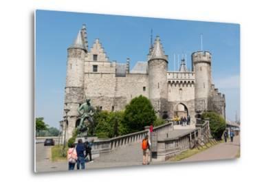 Het Steen, a Medieval Fortress in Antwerp, Belgium, Europe-Carlo Morucchio-Metal Print