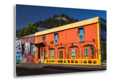 Colourful Buildings in Barrio Bellavista (Bellavista Neighborhood), Santiago Province, Chile-Matthew Williams-Ellis-Metal Print