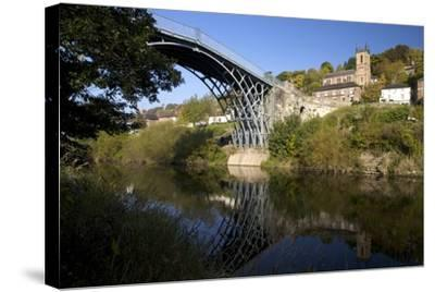 Worlds First Iron Bridge Spans the Banks of the River Severn, Shropshire, England-Peter Barritt-Stretched Canvas Print