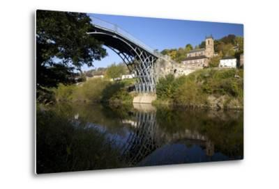 Worlds First Iron Bridge Spans the Banks of the River Severn, Shropshire, England-Peter Barritt-Metal Print