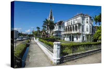 Colonial Building in Georgetown, Guyana, South America-Michael Runkel-Stretched Canvas Print