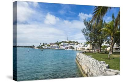 The Harbour of the UNESCO World Heritage Site, the Historic Town of St George, Bermuda-Michael Runkel-Stretched Canvas Print