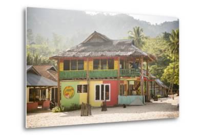 Rasta (Rastafarian) Coloured Beachfront Accommodation at Sungai Pinang, Indonesia-Matthew Williams-Ellis-Metal Print