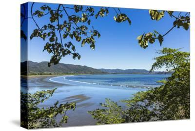 View from Tambor across Ballena Bay Towards Pochote on Southern Tip of Nicoya Peninsula, Costa Rica-Rob Francis-Stretched Canvas Print
