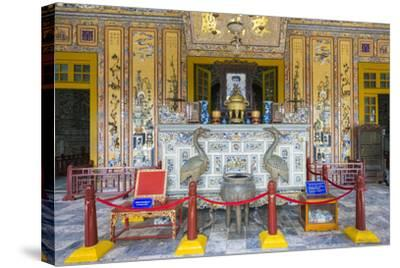 Interior of Tomb of Khai Dinh (Lang Khai Dinh), Thua Thien-Hue Province, Vietnam-Jason Langley-Stretched Canvas Print