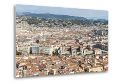 Cityscape Skyline View over the City of Nice, French Riviera-Chris Hepburn-Metal Print