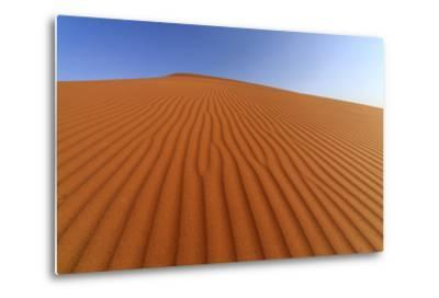 The Shapes of Sand Constantly Shaped by the Wind, Sossusvlei, Namib Naukluft National Park-Roberto Moiola-Metal Print