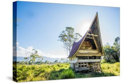 Traditional Batak House in Lake Toba, Sumatra, Indonesia, Southeast Asia-John Alexander-Stretched Canvas Print