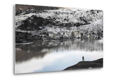 Exploring Solheimajokull Glacier, South Iceland (Sudurland), Iceland, Polar Regions-Matthew Williams-Ellis-Metal Print