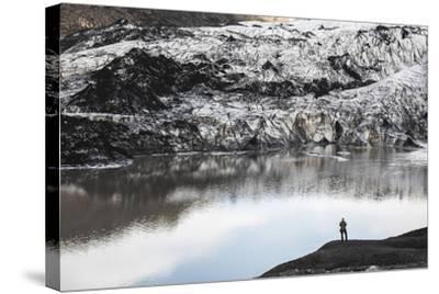 Exploring Solheimajokull Glacier, South Iceland (Sudurland), Iceland, Polar Regions-Matthew Williams-Ellis-Stretched Canvas Print