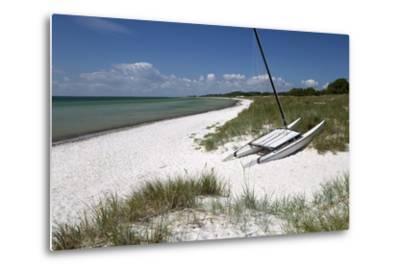 White Sand Beach and Sand Dunes, Skanor Falsterbo, Falsterbo Peninsula, Skane, South Sweden, Sweden-Stuart Black-Metal Print